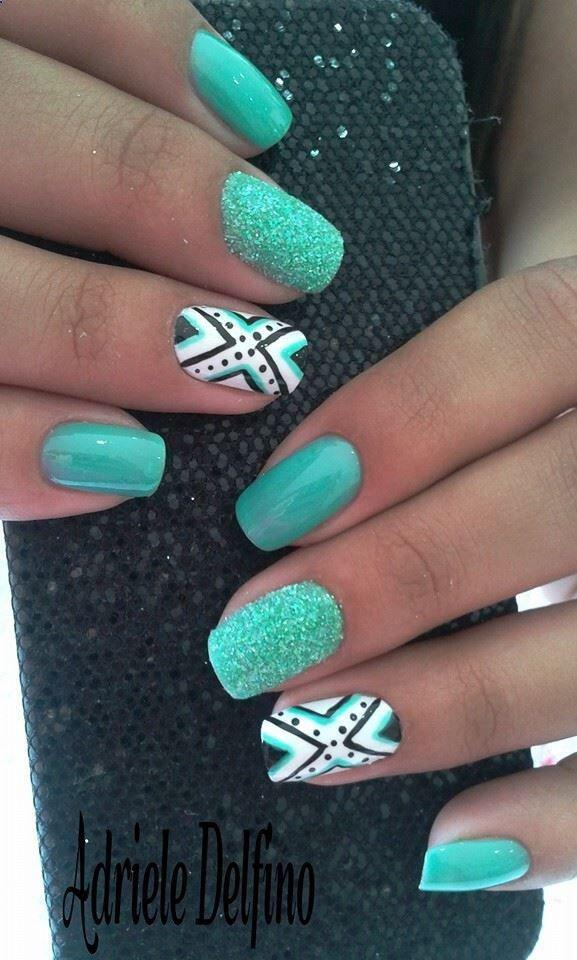 15 spring nails in teal color 1 - 14 spring nails in teal color that you can copy