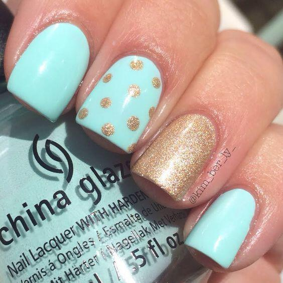15 spring nails in teal color 11 - 14 spring nails in teal color that you can copy