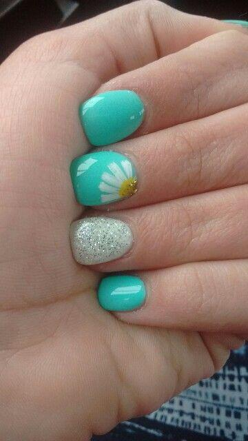 15 spring nails in teal color 12 - 14 spring nails in teal color that you can copy