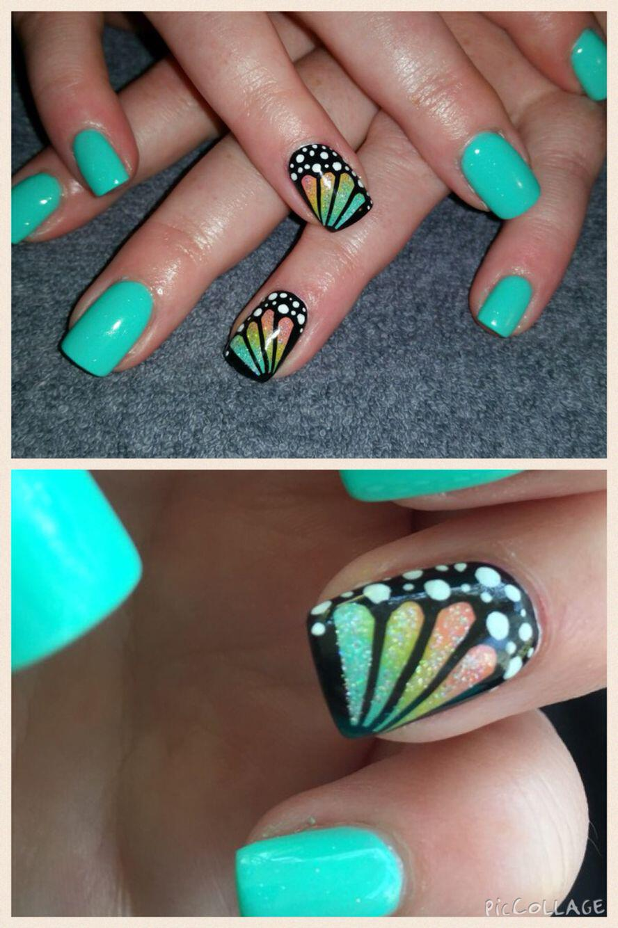 15 spring nails in teal color 13 - 14 spring nails in teal color that you can copy