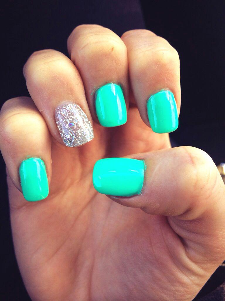 15 spring nails in teal color 3 - 14 spring nails in teal color that you can copy