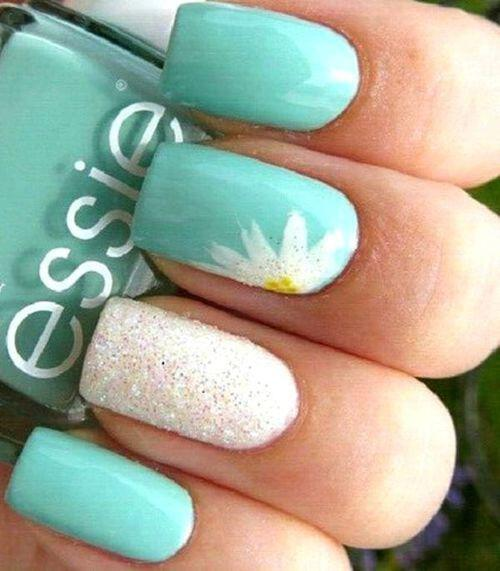 15 spring nails in teal color 4 - 14 spring nails in teal color that you can copy