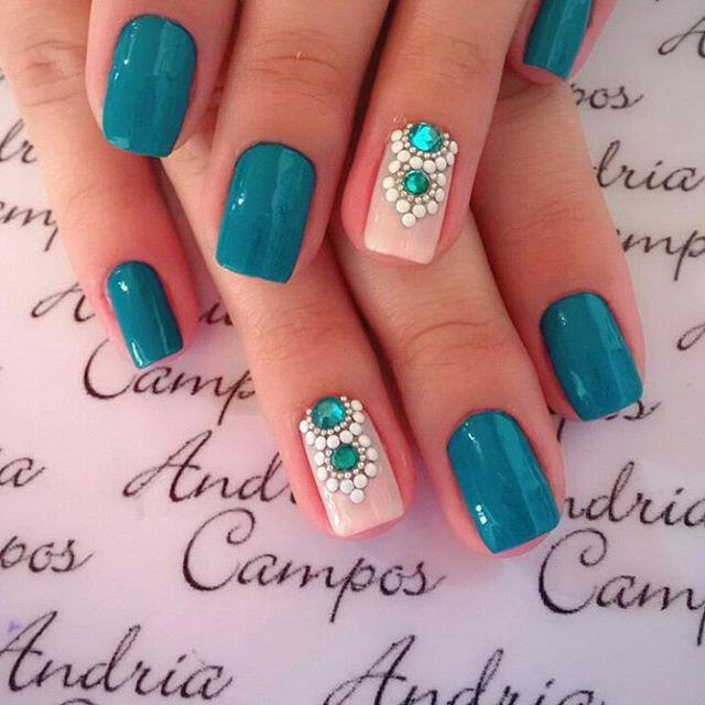 15 spring nails in teal color 7 - 14 spring nails in teal color that you can copy