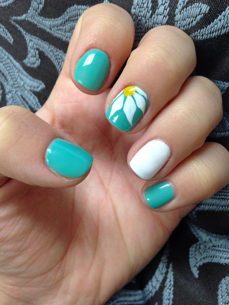 15 spring nails in teal color 8 - 14 spring nails in teal color that you can copy