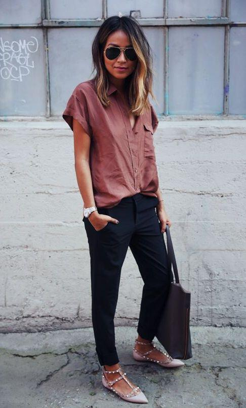 9 stylish business casual outfits with flats to wear this summer 2 - 9 stylish business casual outfits with flats to wear this summer
