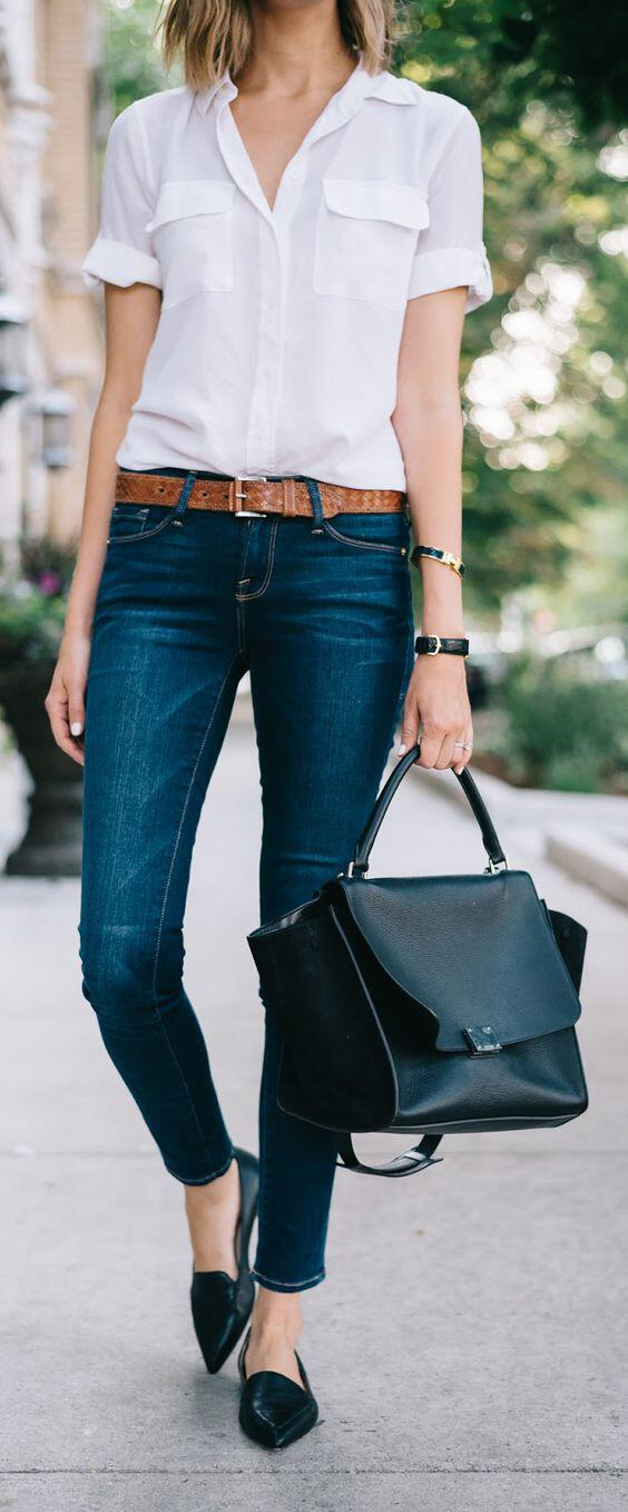 9 stylish business casual outfits with flats to wear this summer - stylishwomenoutfits.com