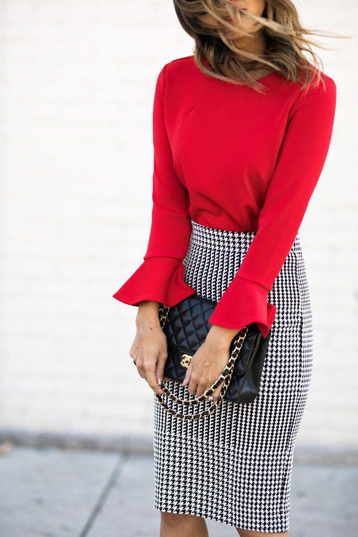 10 ways to wear a red top work outfit and look good 1 - 10 ways to wear a red top work outfit and look good