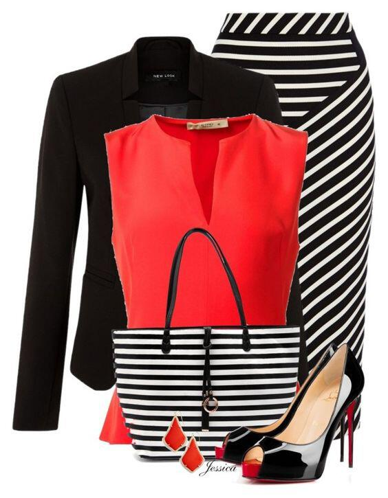 10 ways to wear a red top work outfit and look good 4 - 10 ways to wear a red top work outfit and look good