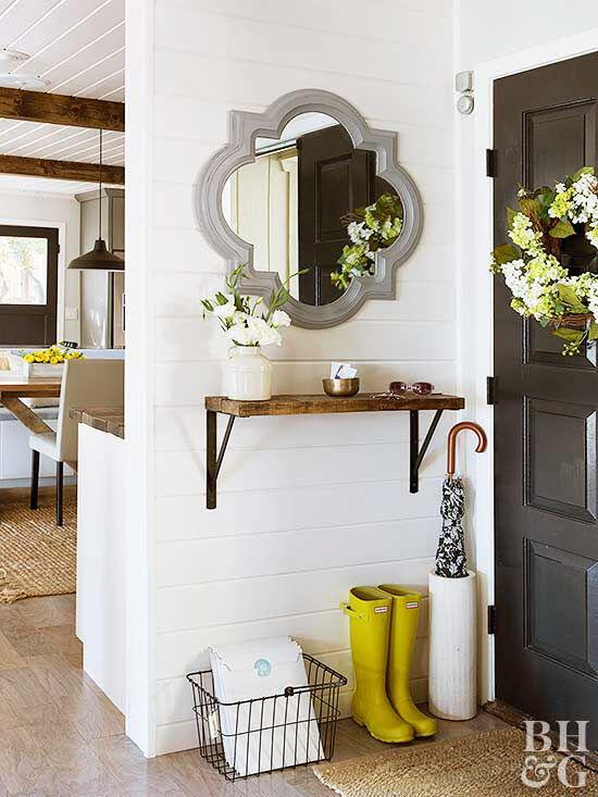15 Great Rustic Hallway Designs That Will Inspire You With Ideas: 12 Small Entryway Decor Ideas You Can Copy