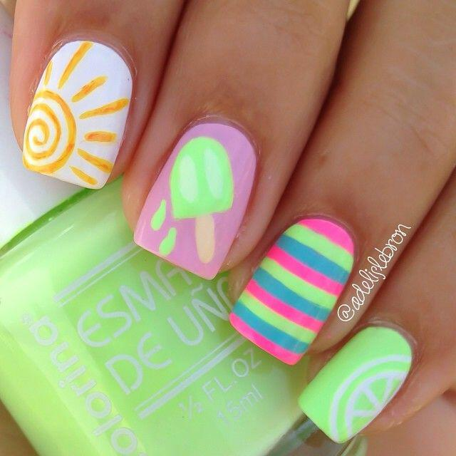 15 beautiful neon summer nails that will get you ready for the beach 11 - 15 beautiful neon summer nails that will get you ready for the beach