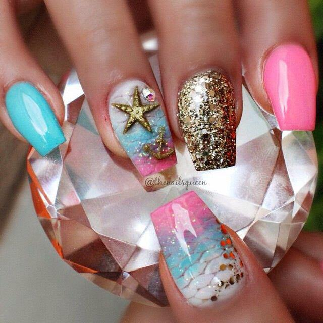 15 beautiful neon summer nails that will get you ready for the beach 6 - 15 beautiful neon summer nails that will get you ready for the beach