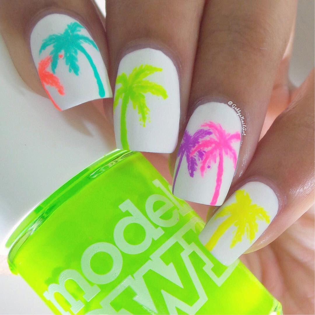 15 beautiful neon summer nails that will get you ready for the beach - 15 beautiful neon summer nails that will get you ready for the beach