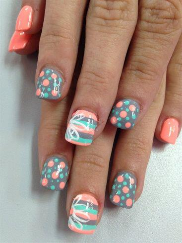15 easy polka dot summer nail art ideas to get inspiration 1 - 15 easy polka dot summer nail art ideas to get inspiration