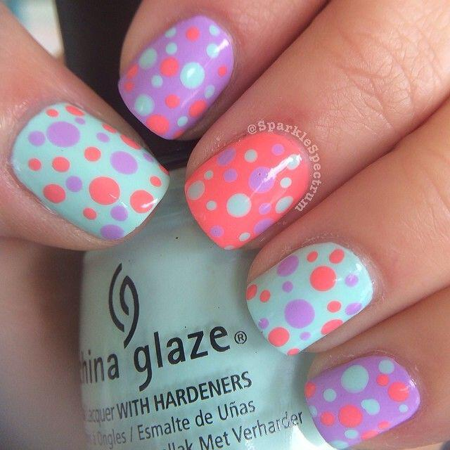 15 easy polka dot summer nail art ideas to get inspiration 10 - 15 easy polka dot summer nail art ideas to get inspiration