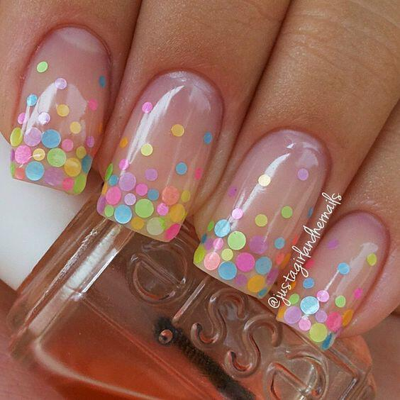 15 easy polka dot summer nail art ideas to get inspiration 12 - 15 easy polka dot summer nail art ideas to get inspiration