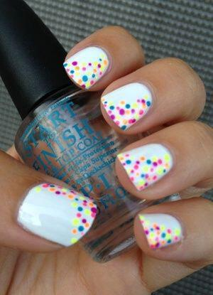 15 easy polka dot summer nail art ideas to get inspiration 13 - 15 easy polka dot summer nail art ideas to get inspiration
