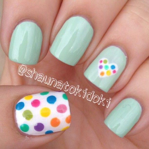15 easy polka dot summer nail art ideas to get inspiration 14 - 15 easy polka dot summer nail art ideas to get inspiration