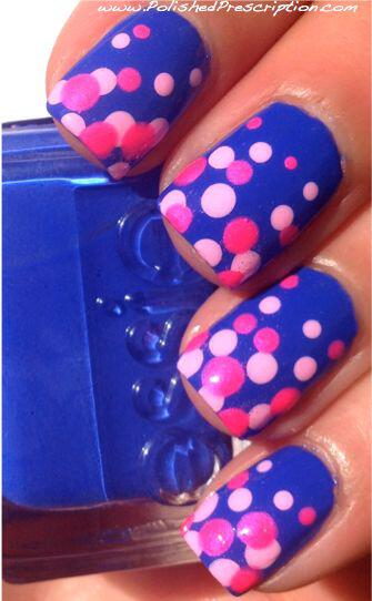 15 easy polka dot summer nail art ideas to get inspiration 2 - 15 easy polka dot summer nail art ideas to get inspiration