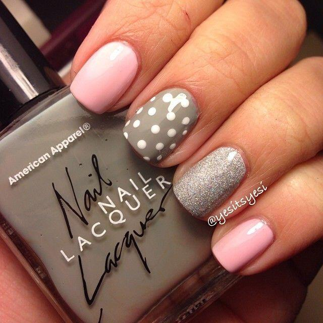 15 easy polka dot summer nail art ideas to get inspiration 3 - 15 easy polka dot summer nail art ideas to get inspiration