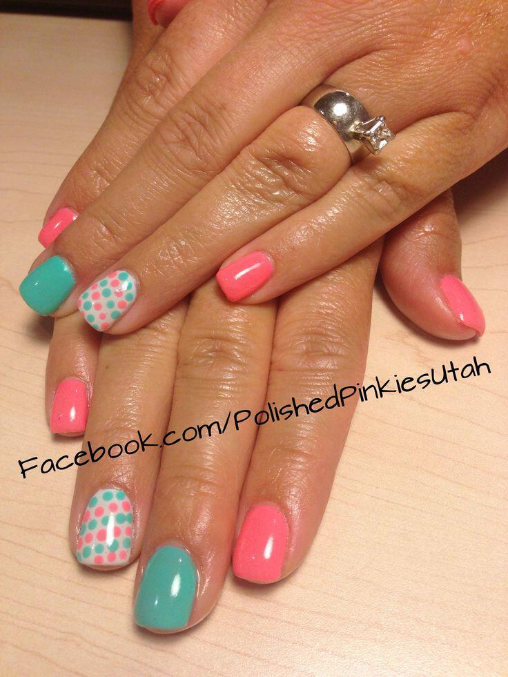 15 easy polka dot summer nail art ideas to get inspiration 5 - 15 easy polka dot summer nail art ideas to get inspiration