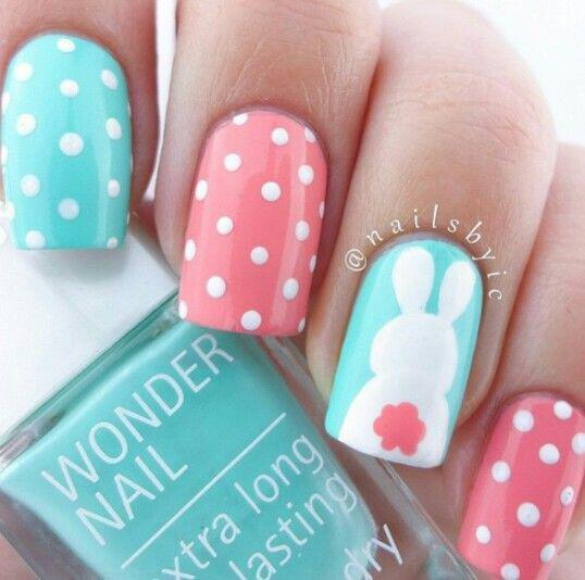 15 easy polka dot summer nail art ideas to get inspiration 6 - 15 easy polka dot summer nail art ideas to get inspiration