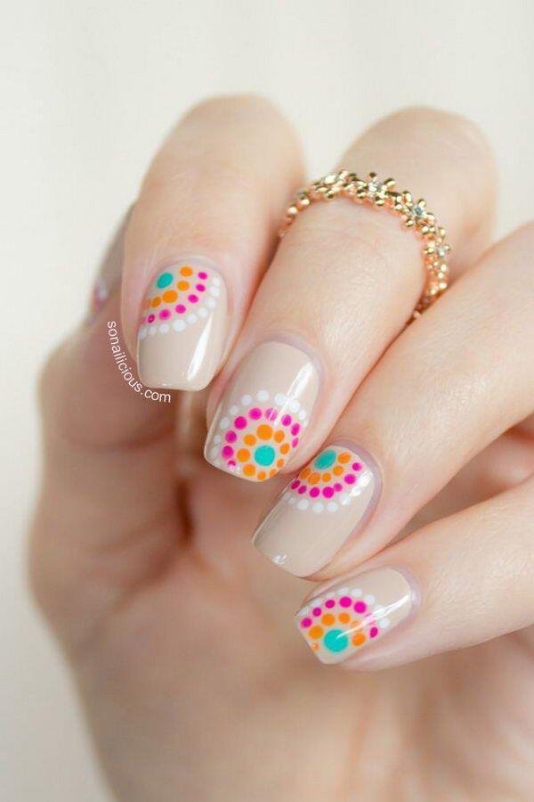 15 easy polka dot summer nail art ideas to get inspiration 9 - 15 easy polka dot summer nail art ideas to get inspiration