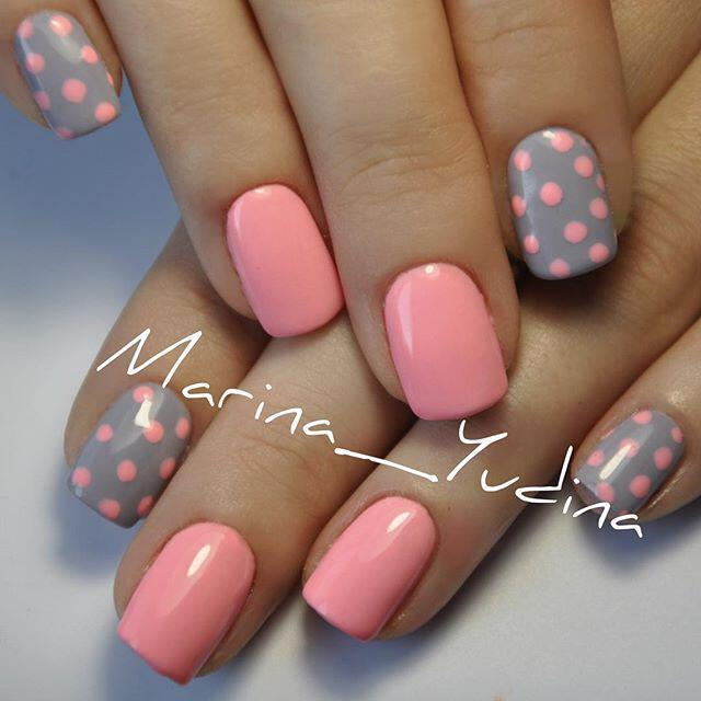 15 easy polka dot summer nail art ideas to get inspiration - 15 easy polka dot summer nail art ideas to get inspiration