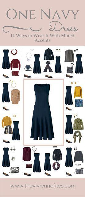 15 ways to wear a navy dress outfit and what accessories to choose 12 - 15 ways to wear a navy dress outfit and what accessories to choose