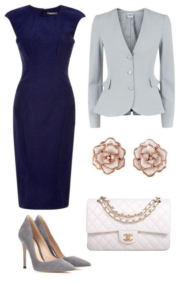 15 ways to wear a navy dress outfit and what accessories to choose 13 e1495491306819 - 15 ways to wear a navy dress outfit and what accessories to choose