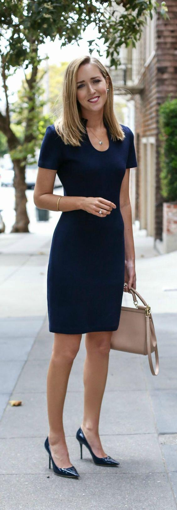 15 ways to wear a navy dress outfit and what accessories to choose 14 - 15 ways to wear a navy dress outfit and what accessories to choose