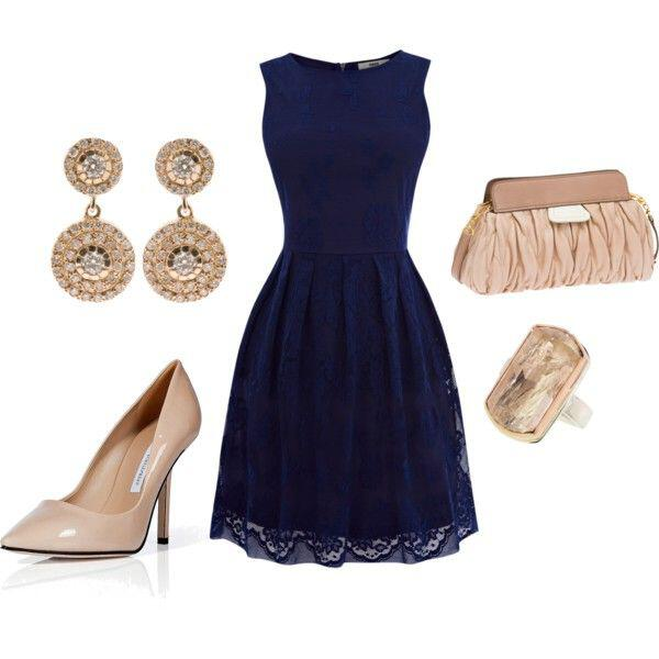 15 ways to wear a navy dress outfit and what accessories to choose 3 - 15 ways to wear a navy dress outfit and what accessories to choose