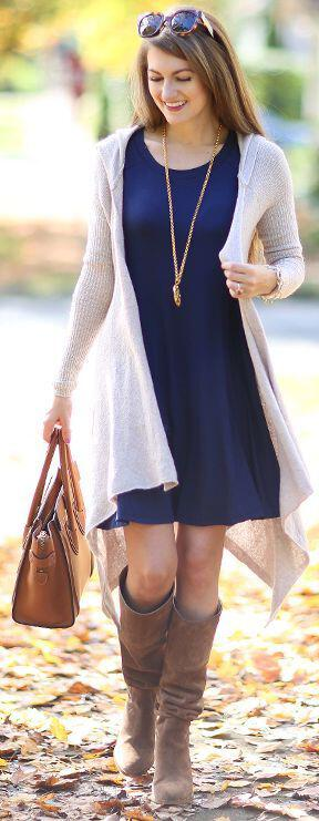 15 ways to wear a navy dress outfit and what accessories to choose 7 - 15 ways to wear a navy dress outfit and what accessories to choose