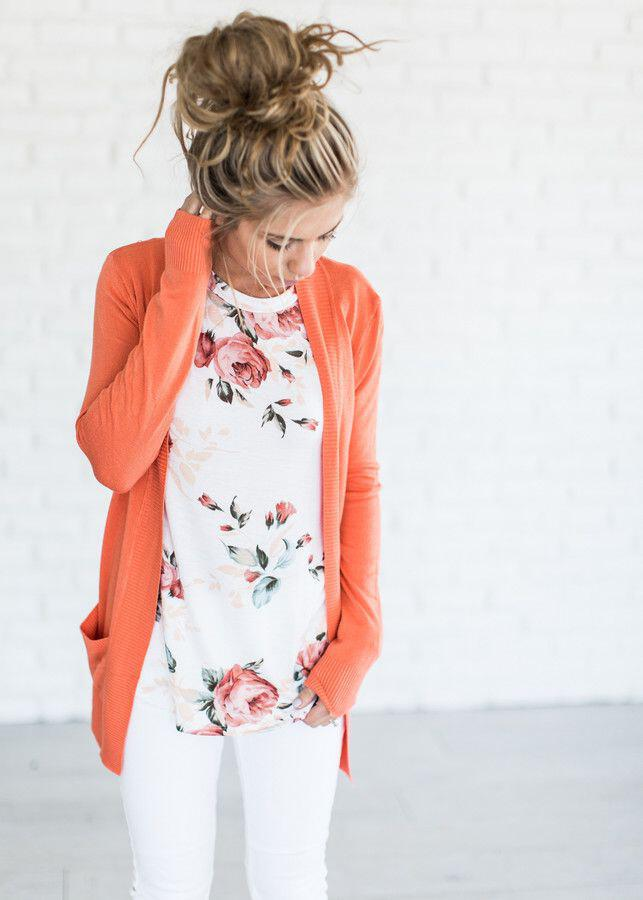 9 casual work outfits with a floral top 2 - 9 casual work outfits with a floral top