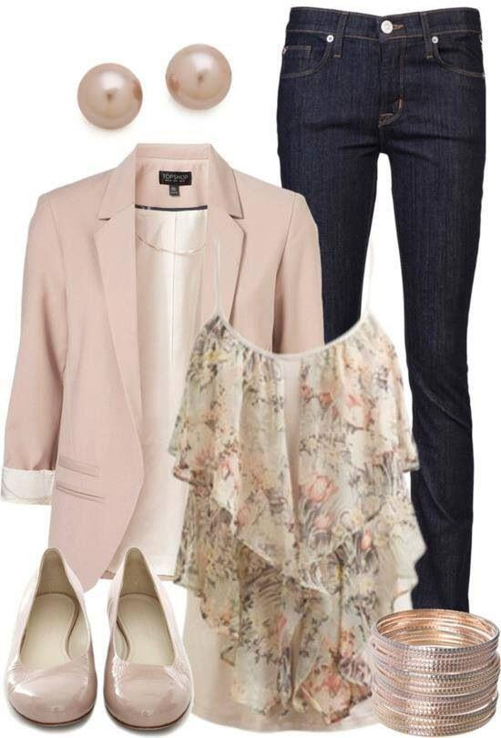 9 casual work outfits with a floral top 7 - 9 casual work outfits with a floral top