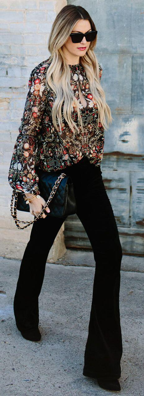 9 casual work outfits with a floral top - 9 casual work outfits with a floral top