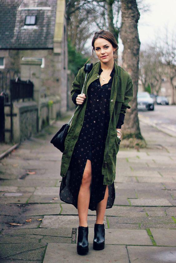 9 ideas on how to wear green parkas in spring all day outfits 5 - 9 ideas on how to wear green parkas in spring all day outfits