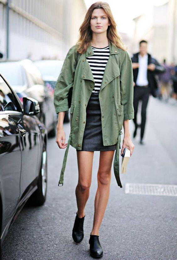 9 ideas on how to wear green parkas in spring all day outfits 7 - 9 ideas on how to wear green parkas in spring all day outfits