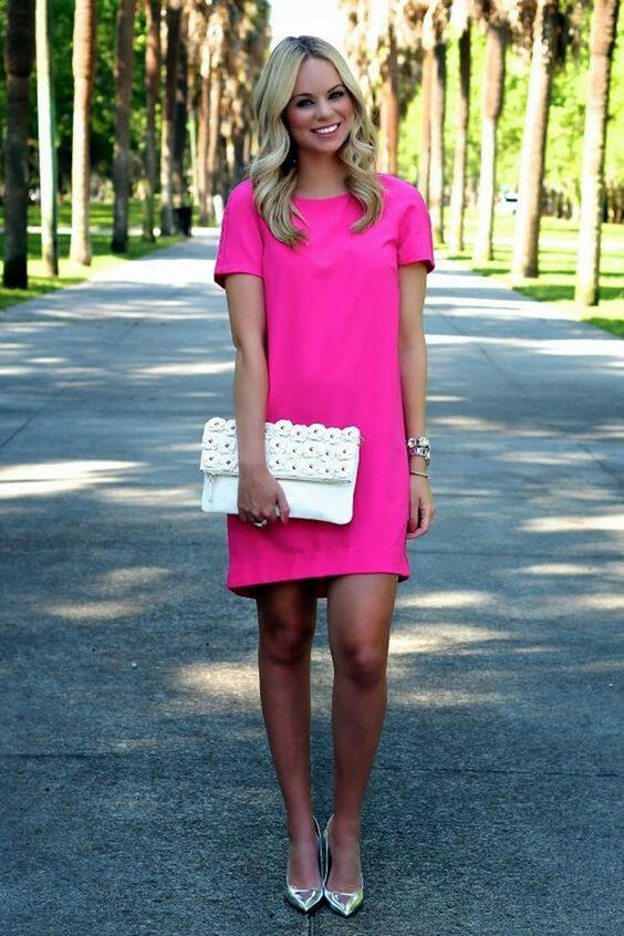 What color shoes to wear with a fuchsia dress - stylishwomenoutfits.com 8690cce6f4fd