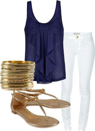 11 cute summer outfit with gold sandals 2 - 11 cute summer outfit with gold sandals