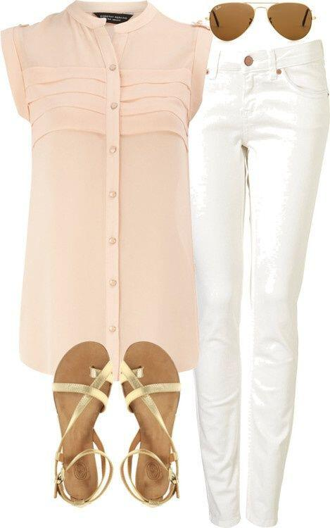 11 cute summer outfit with gold sandals 3 - 11 cute summer outfit with gold sandals