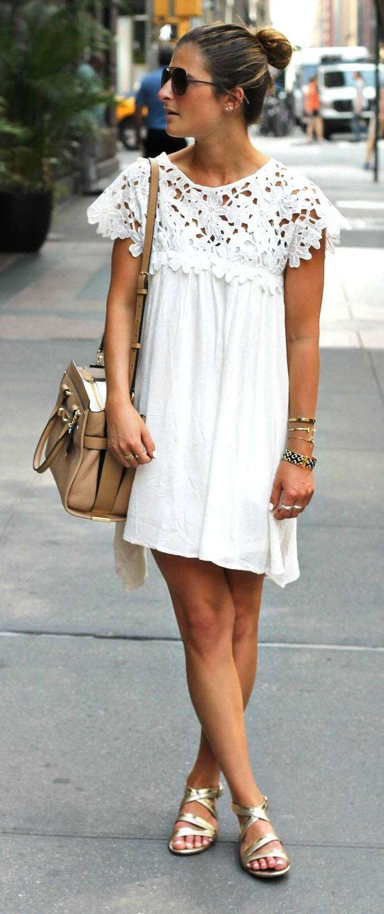 11 cute summer outfit with gold sandals 5 - 11 cute summer outfit with gold sandals