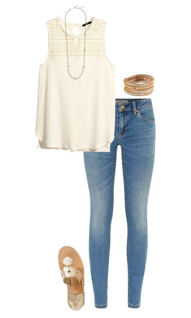 ec73f066e89d 11 cute summer outfit with gold sandals - Page 9 of 12 ...