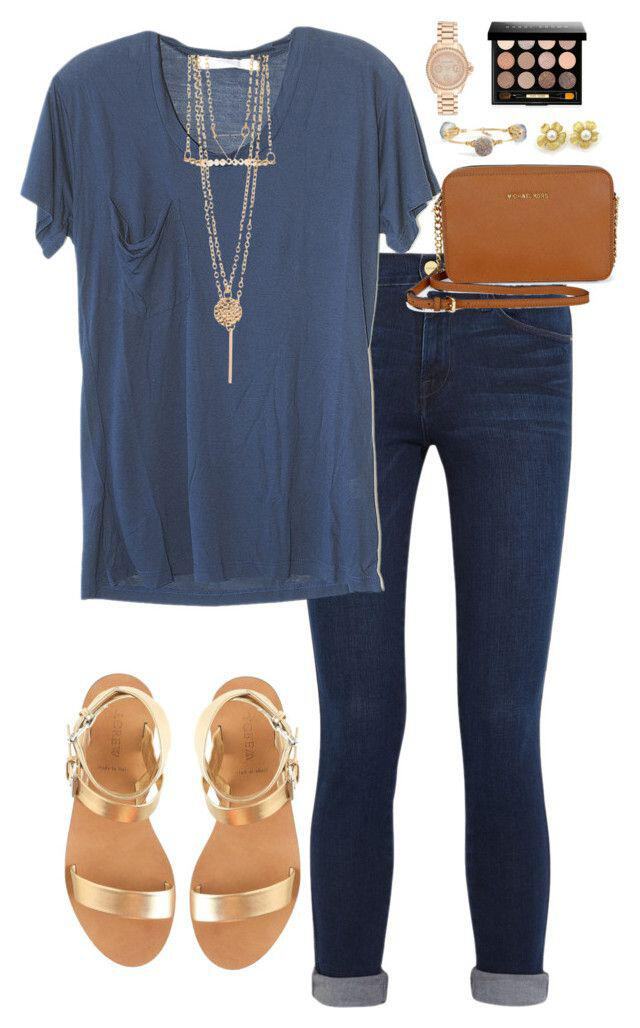 11 cute summer outfit with gold sandals ...