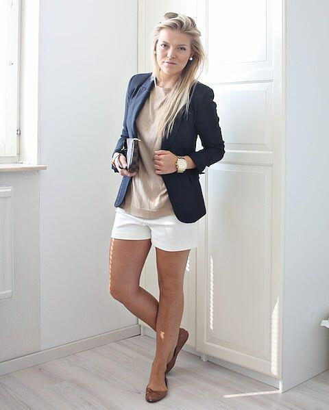 12 women work outfits ideas with shorts 1 - 12 women work outfits ideas with shorts