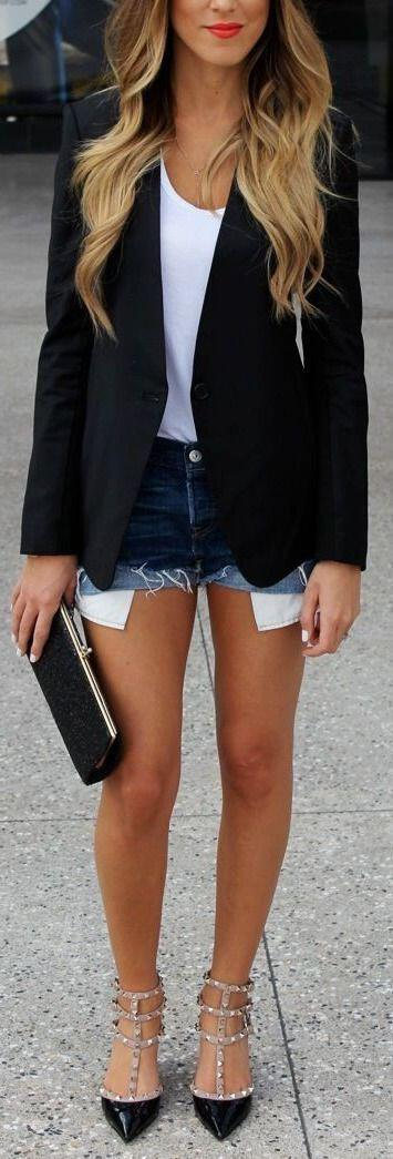 12 women work outfits ideas with shorts 4 - 12 women work outfits ideas with shorts