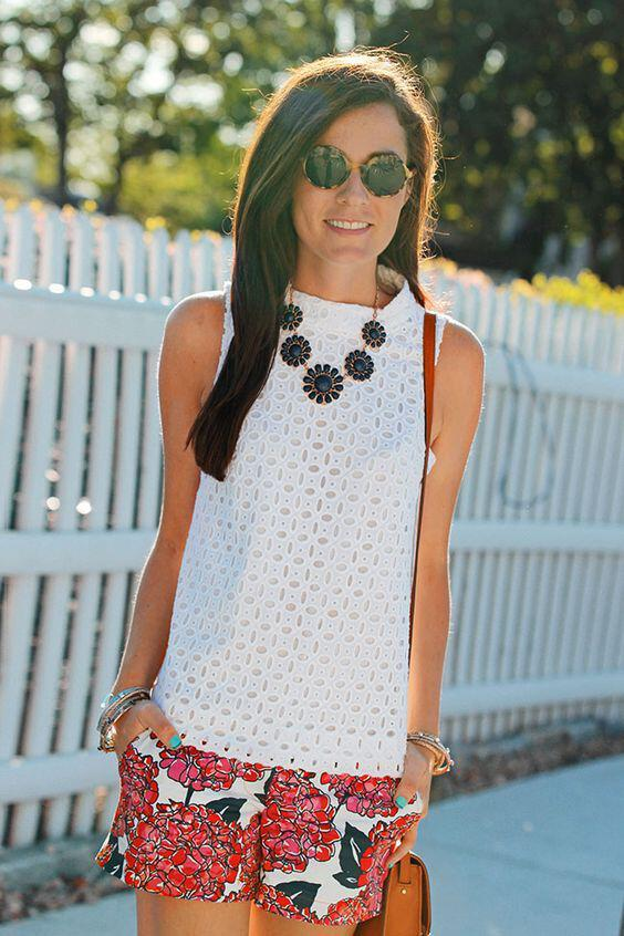 14 cute summer outfit with eyelet tops 10 - 14 cute summer outfit with eyelet tops