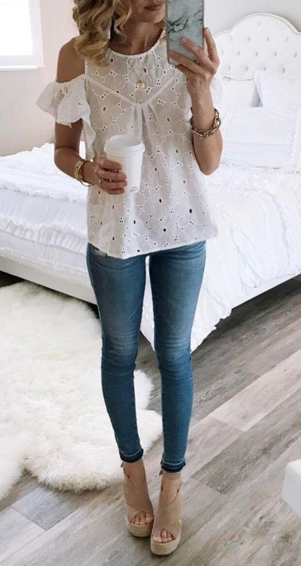 14 cute summer outfit with eyelet tops 2 - 14 cute summer outfit with eyelet tops