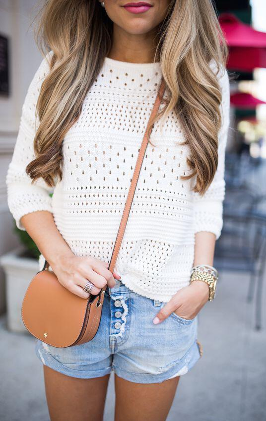 14 cute summer outfit with eyelet tops 3 - 14 cute summer outfit with eyelet tops