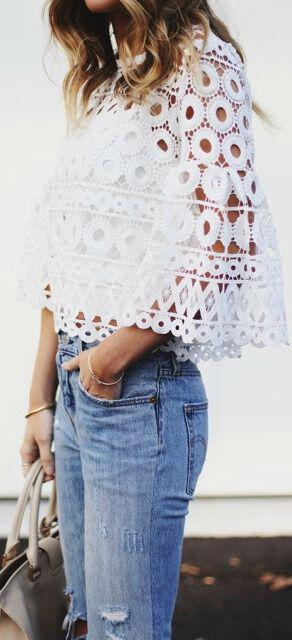 14 cute summer outfit with eyelet tops 7 - 14 cute summer outfit with eyelet tops