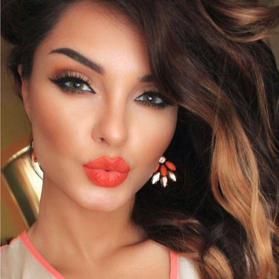 romantic makeup in orange tones - 6 romantic makeup looks in orange tones